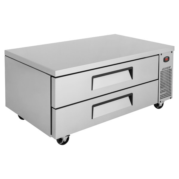 """Turbo Air TCBE-52SDR-N 52"""" Two Drawer Refrigerated Chef Base Main Image 1"""