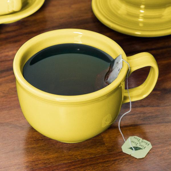Homer Laughlin 149320 Fiesta Sunflower 18 oz. Jumbo Cup - 12/Case