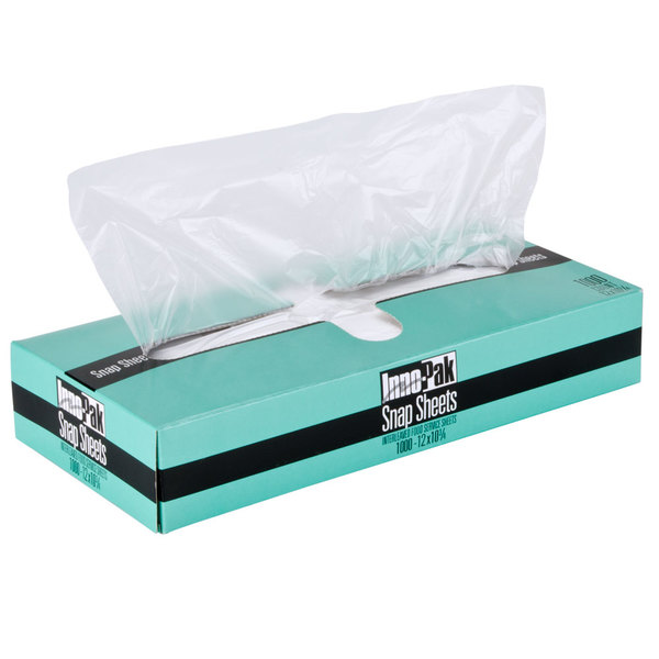 "Box of 1000 12"" X 10 3/4"" Plastic Deli Wrap and Bakery Wrap"