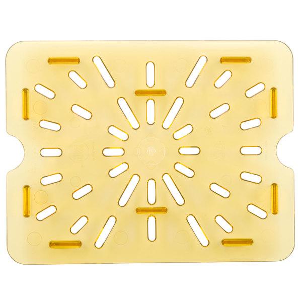 Cambro 20HPD150 1/2 Size Amber High Heat Drain Tray