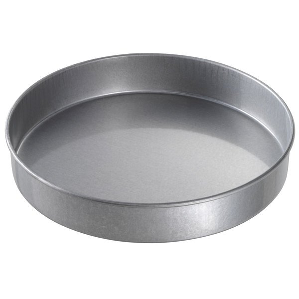 "Chicago Metallic 41225 12"" x 2"" Glazed Aluminized Steel Customizable Round Cake Pan"