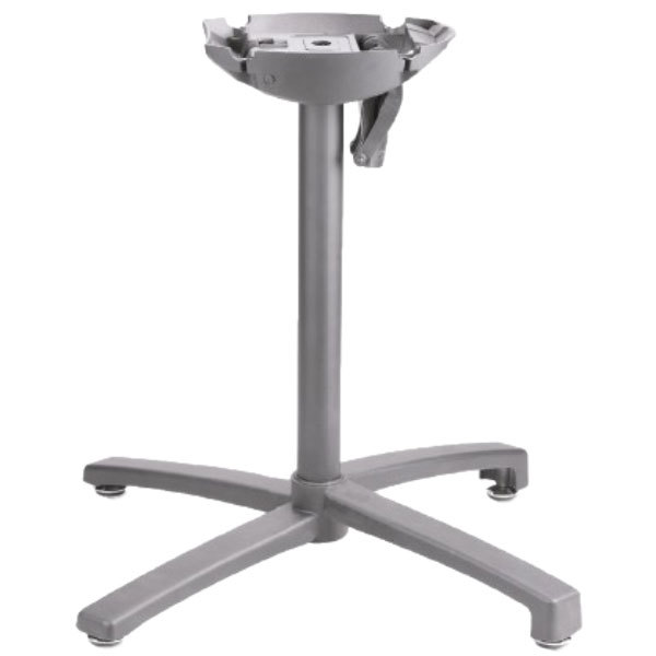 Grosfillex USX1W009 X1 200 Silver Gray Tilt Top Aluminum Outdoor Table Base