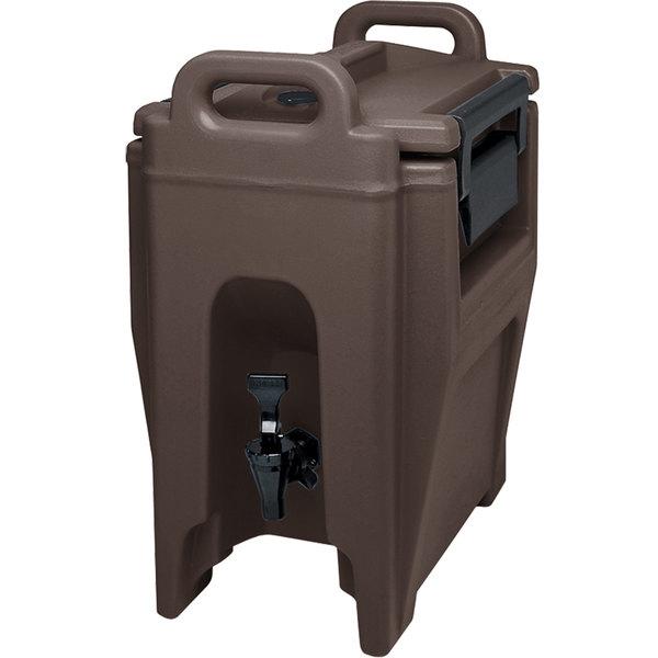 Cambro UC250131 Ultra Camtainers® 2.75 Gallon Dark Brown Insulated Beverage Dispenser Main Image 1