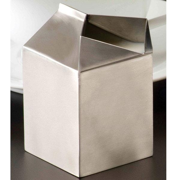 American Metalcraft MCC500 5 oz. Stainless Steel Milk Carton Creamer Main Image 6