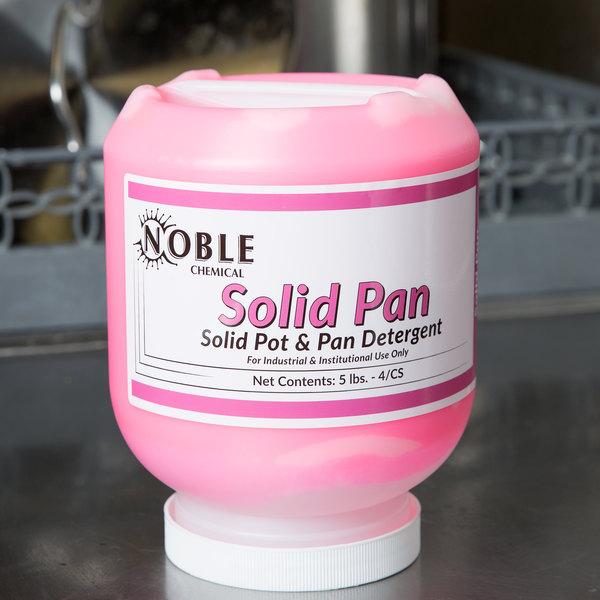 Noble Chemical 5 lb. / 80 oz. Solid Pan Detergent - 4/Case