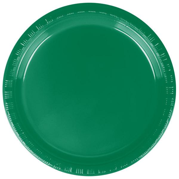 Dart Solo P65G-0099 6 inch Green Plastic Plate - 1000/Case
