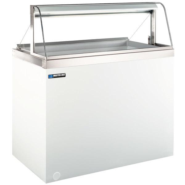 "Master-Bilt DD-66CG 69"" Curved Glass Ice Cream Dipping Cabinet"