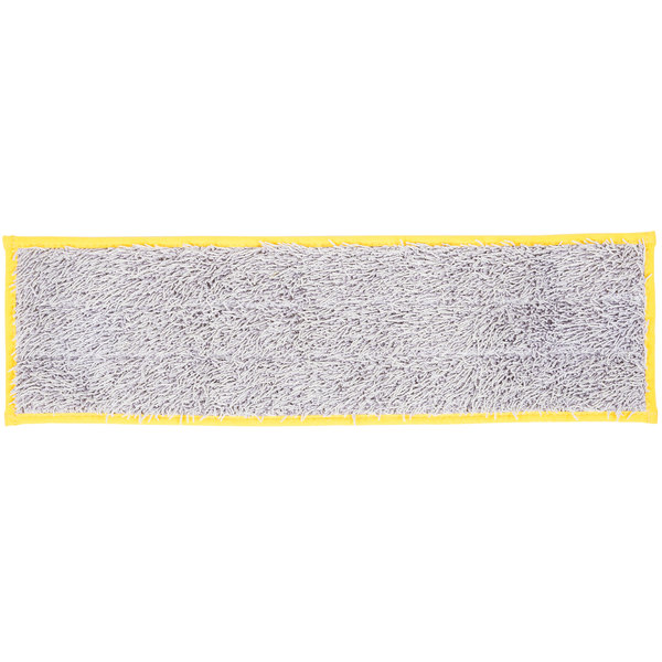 """Unger DD40Y SmartColor Yellow Dry / Damp 13.0 Mop Pad - 19 1/2"""""""