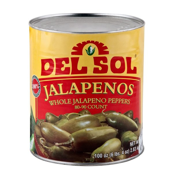 #10 Can Whole Jalapeno Peppers - 6/Case