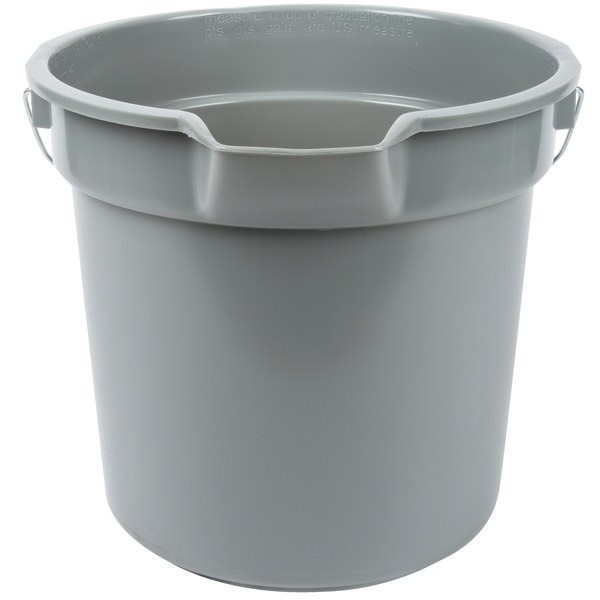 Continental 8114GY Huskee 14 Qt. Gray Round Utility Bucket Main Image 1