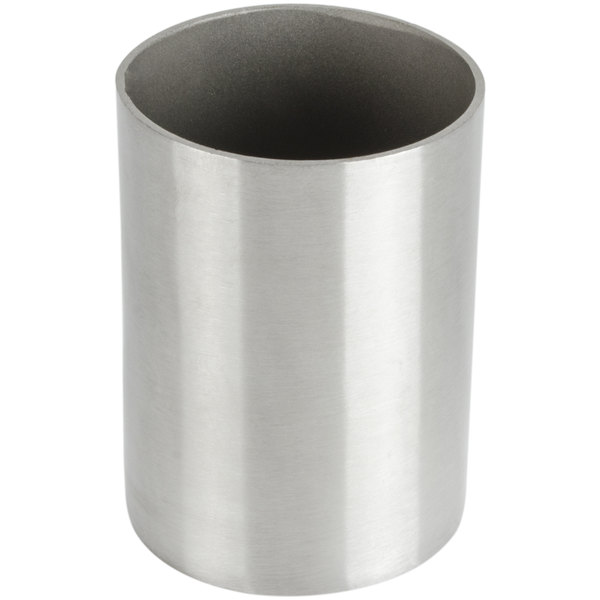 American Metalcraft SSPH2 2 inch x 2 3/4 inch Satin Finish Stainless Steel Round Sugar Packet / Cube Holder