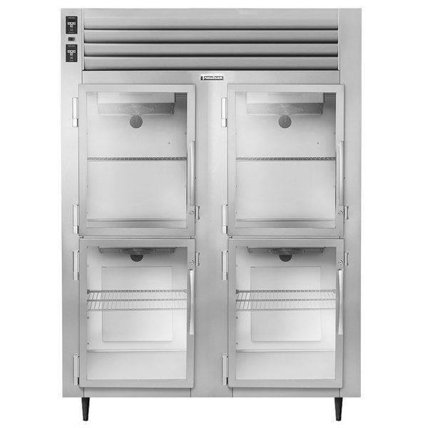 Traulsen AHF232W-HHG 52.8 Cu. Ft. Glass Half Door Two Section Reach In Heated Holding Cabinet - Specification Line