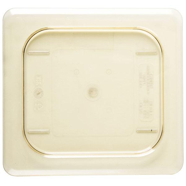 Cambro 60HPC150 H-Pan 1/6 Size Amber High Heat Flat Lid