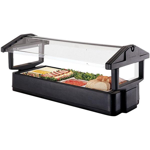 Cambro 5FBRTT110 Black Table Top 5' Food / Salad Bar with Sneeze Guard