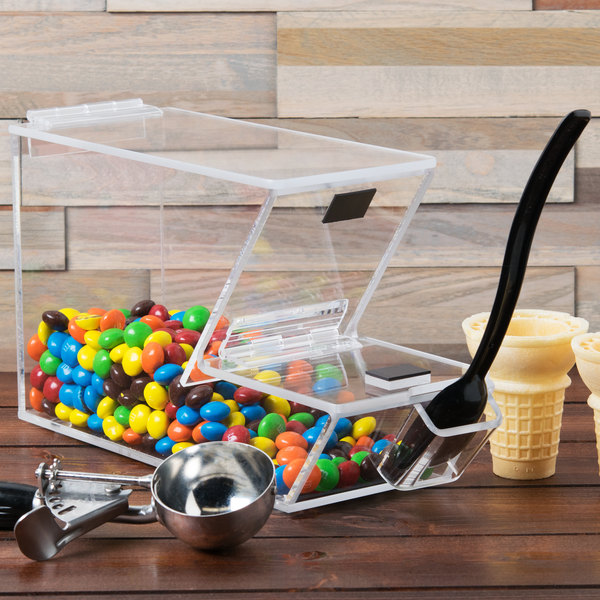 """Cal-Mil 927-H Stackable Topping Dispenser with Holster - 4"""" x 11"""" x 7"""""""