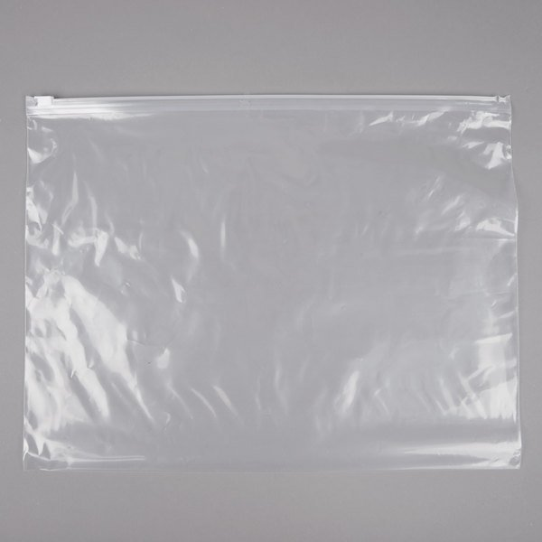 "Plastic Food Bag 14"" x 11"" Slide Seal - 250/Case Main Image 1"