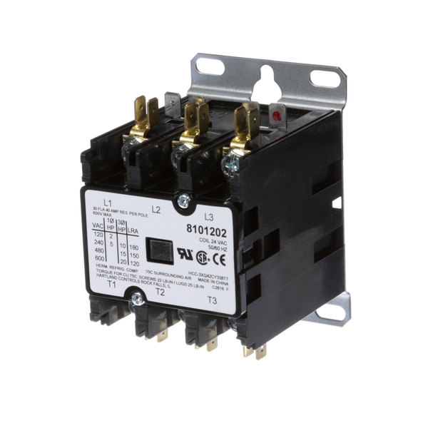 Frymaster 8101202 Contactor, 40 Amp 3 Pole Main Image 1