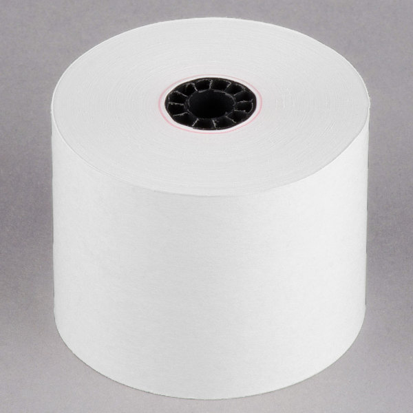 Point Plus 2 1/4 inch x 150' Traditional Cash Register POS / Calculator Paper Roll Tape - 10/Pack