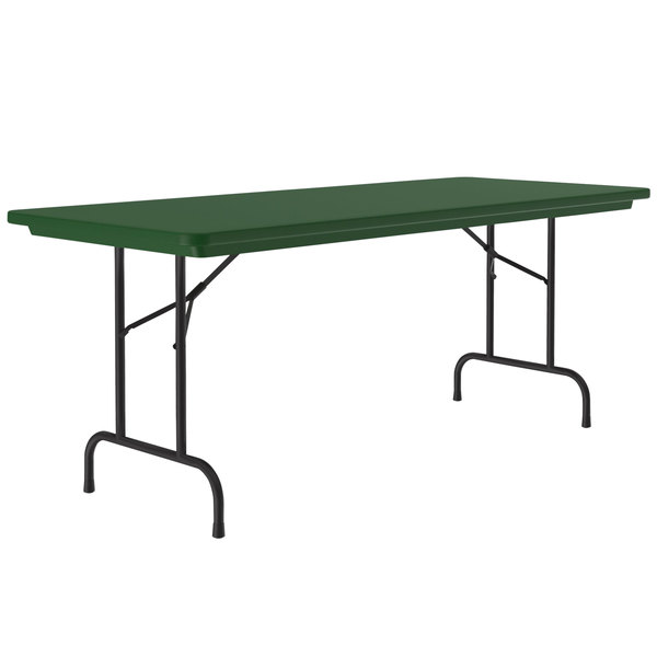 "Correll R-Series R3060 30"" x 60"" Green Plastic Folding Table Main Image 1"