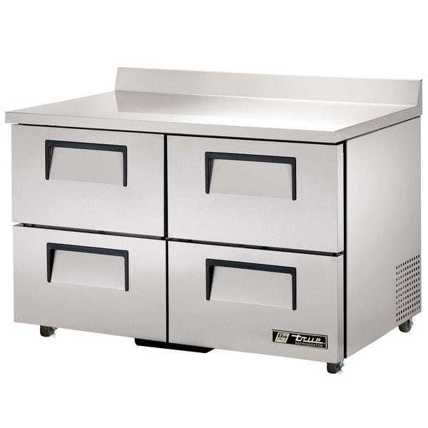 True TWT-48D-4-ADA-HC 48 inch Deep ADA Compliant Work Top Refrigerator with Four Drawers - 12 Cu. Ft.