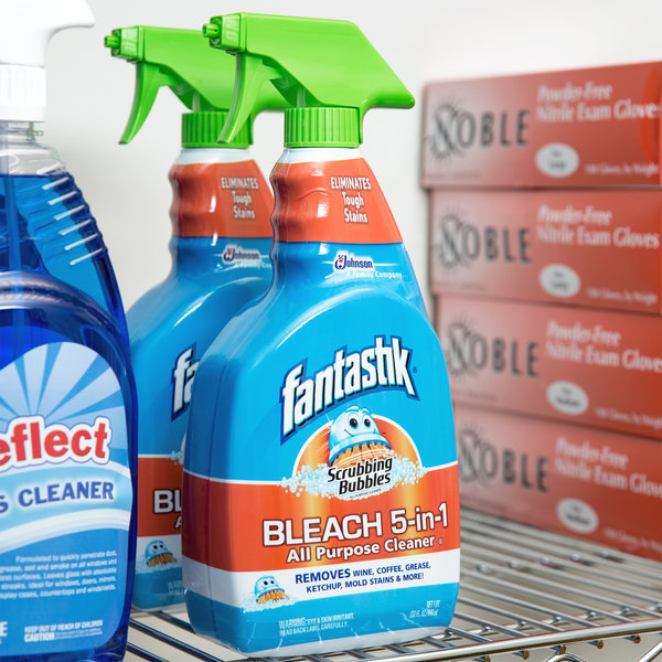 SC Johnson Fantastik® 652514 32 oz. Scrubbing Bubbles® All Purpose Spray Cleaner with Bleach