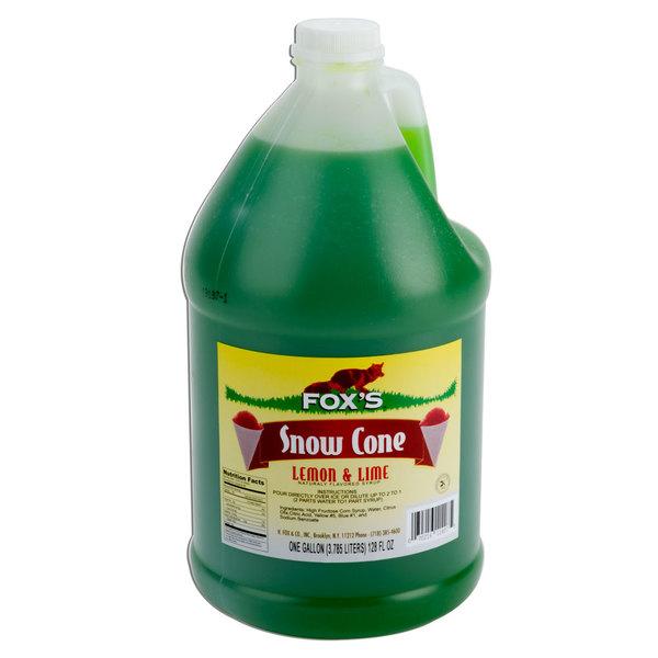 Fox's 1 Gallon Lemon Lime Snow Cone Syrup