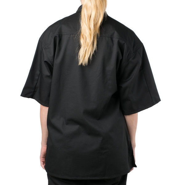 X-Small Black Mercer Culinary M61030BKXS Genesis Womens Chef Jacket with Traditional Buttons