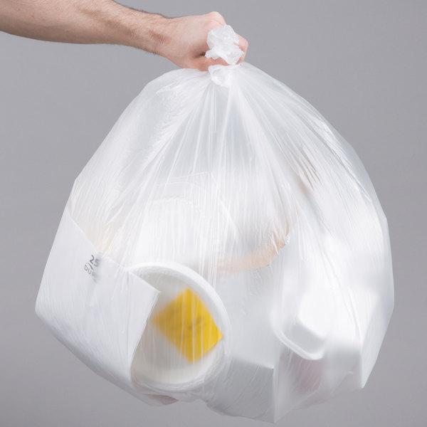 33 gallon 16 micron 33 x 40 olympian high density can liner trash bag 250 case. Black Bedroom Furniture Sets. Home Design Ideas