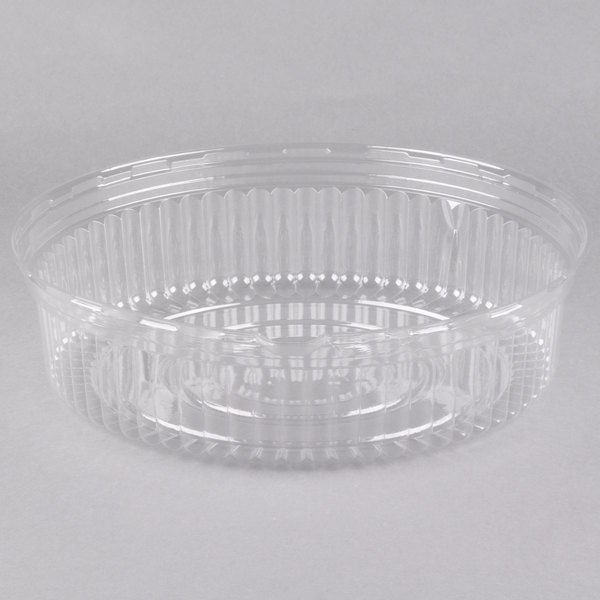 """14/"""" New Details about  /Clear Thick Plastic Serving Platter"""