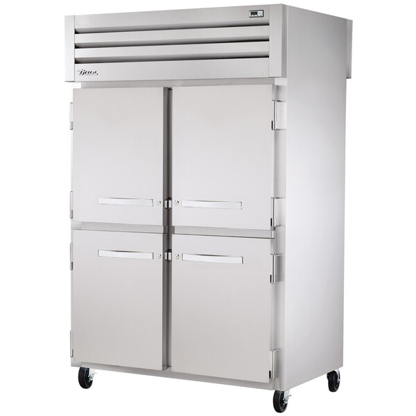 True STR2RPT-4HS-2S-HC Specification Series 52 5/8 inch Half Solid Front, Full Solid Back Pass-Through Refrigerator