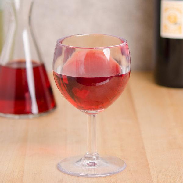 GET SW-1406-CL (SW1406) 6 oz. SAN Plastic Wine Glass