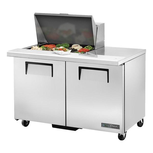 True TSSU-48-12M-B-HC 48 inch 2 Door Mega Top Refrigerated Sandwich Prep Table