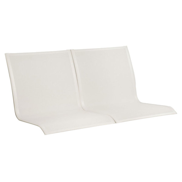 Grosfillex US102096 Sunset White Conversational Chair, Loveseat, and Sofa Sling - 2/Pack