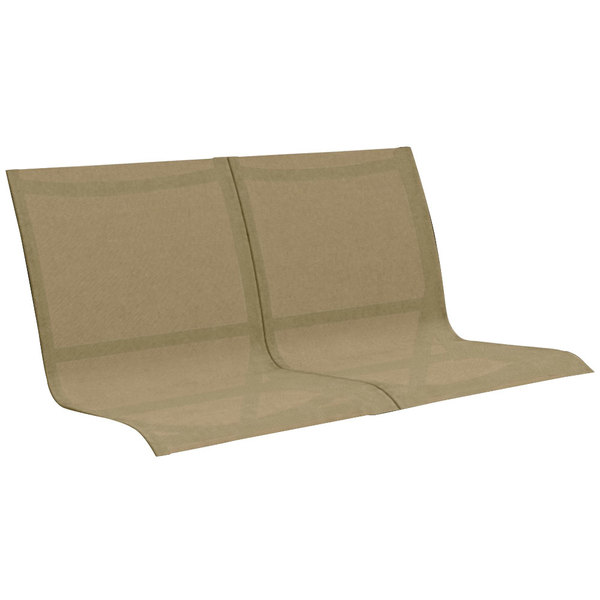 Grosfillex US102599 Sunset Cognac Conversational Chair, Loveseat, and Sofa Sling - 2/Pack Main Image 1