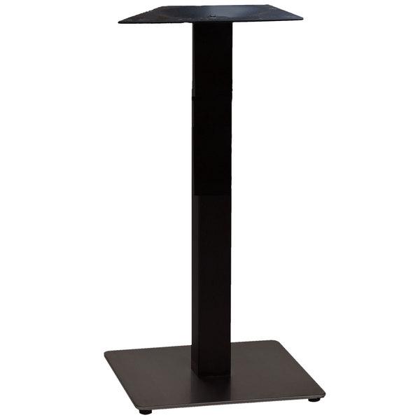 """Grosfillex US338817 VanGuard 18"""" Square Black Indoor Bar Height Pedestal Table Base"""