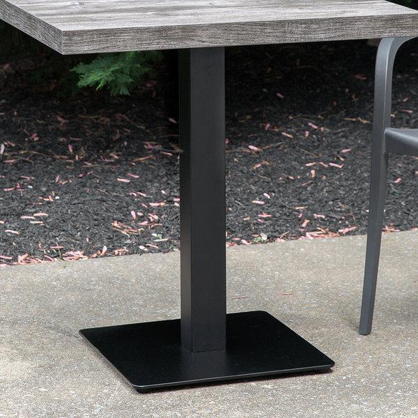 "Grosfillex US181017 Contemporary 18"" Square Black Indoor Pedestal Table Base"