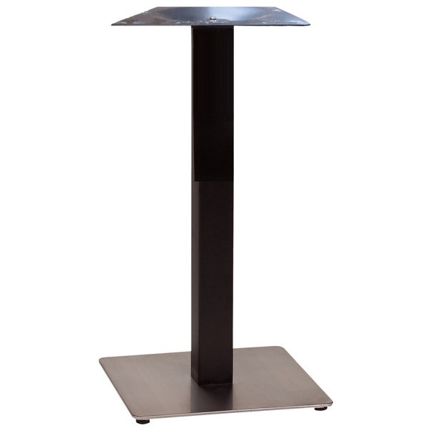 Grosfillex Us121809 Vanguard 18 Square Black Stainless Steel Indoor Bar Height Pedestal Table Base