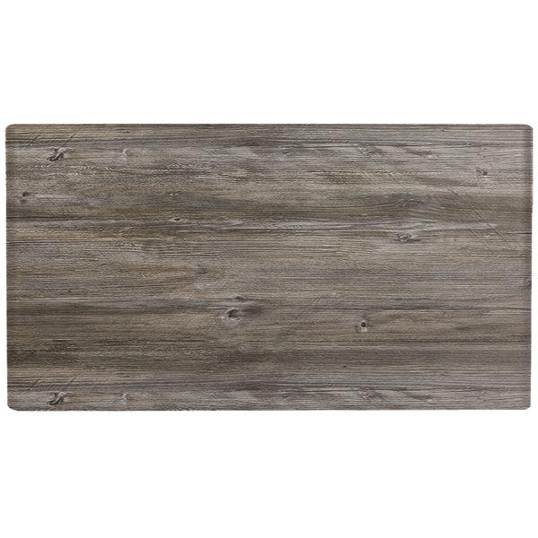 "Grosfillex US72VG45 VanGuard 30"" x 72"" Vintage Oak Resin Indoor Table Top"