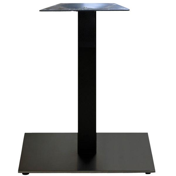 """Grosfillex US321217 VanGuard 22"""" Square Black Indoor Pedestal Table Base"""