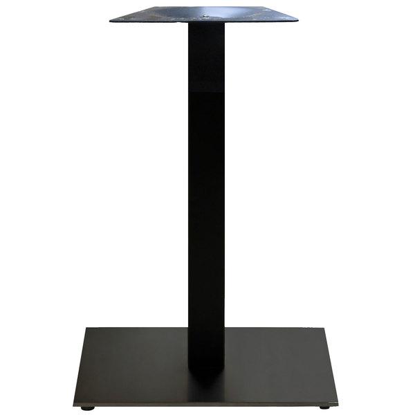 "Grosfillex US234317 VanGuard 22"" Square Black Indoor Bar Height Pedestal Table Base Main Image 1"