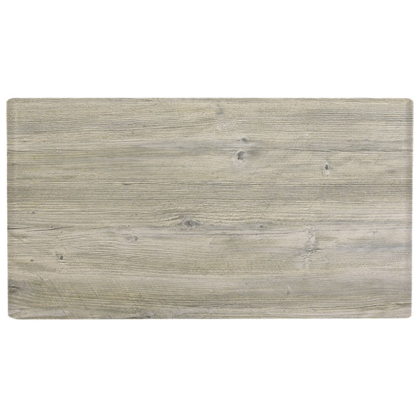 "Grosfillex US72VG71 VanGuard 30"" x 72"" White Oak Resin Indoor Table Top"