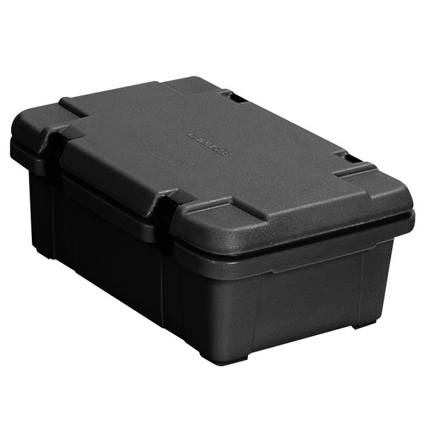 "Carlisle PC140N03 Cateraide™ Black Top Loading 4"" Deep Insulated Food Pan Carrier Main Image 1"