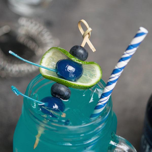 Regal 16 oz. Dark Blue Maraschino Cherries with Stems