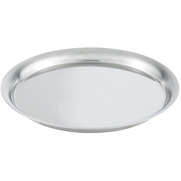 """Vollrath 82005 Round Cover for 24 oz. Double Wall Bowl / Metal Display Tray - 5 3/4"""""""