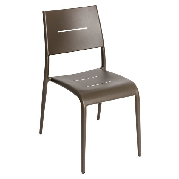 BFM Seating PH902CBZ Hampton Bronze Stackable Aluminum Side Chair