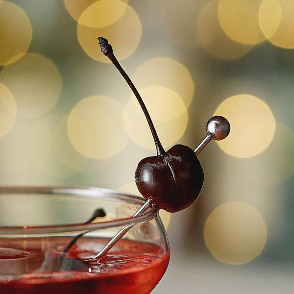 Regal 16 oz. Purple Maraschino Cherries with Stems Main Image 3