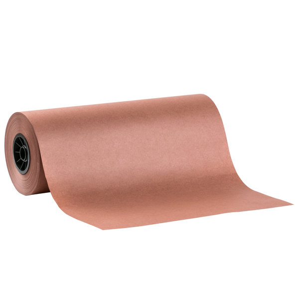 "18"" x 700' 40# Peach Treated Butcher Paper Roll"