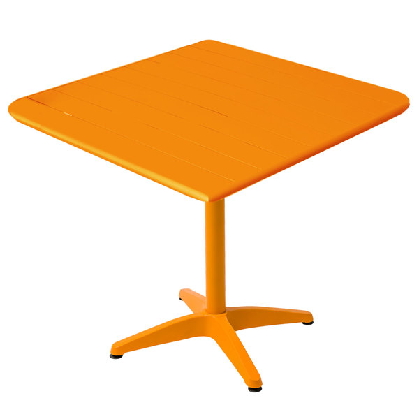 "BFM Seating MSB3636CT Beachcomber 36"" Square Citrus Aluminum Outdoor Table"