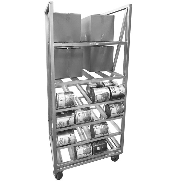 Channel CSBR-80M Full Size Mobile Aluminum Can and Storage Rack for #10 Cans and #5 Cans