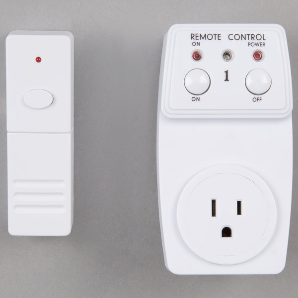 White rectangular simple remote control with buttons